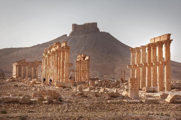 "\""Mei 2010, Syri�, Romeinse resten van Palmyra, duizend zuilen\"""