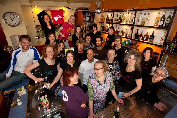 "\""Nijmegen, 20-2-2011 . Kollektief cafe de Plak, Joze, Bas, Pedro\"""