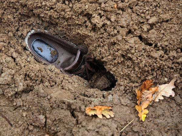 "\""schoen in de modder, Wijchen\"""