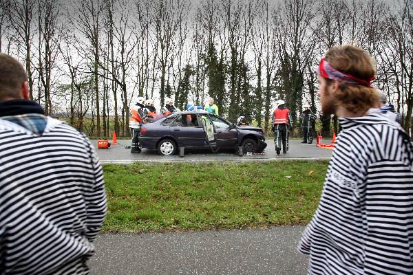 "\""Ongeluk Rijksweg Nijmegen -Beek, kettingbotsing, tijdens carnaval\"""