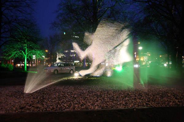 "\""Proef kunstproject met licht Keizer Karelplein\"""