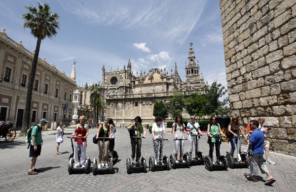 Spanje, rondleiding in Sevilla per Segway