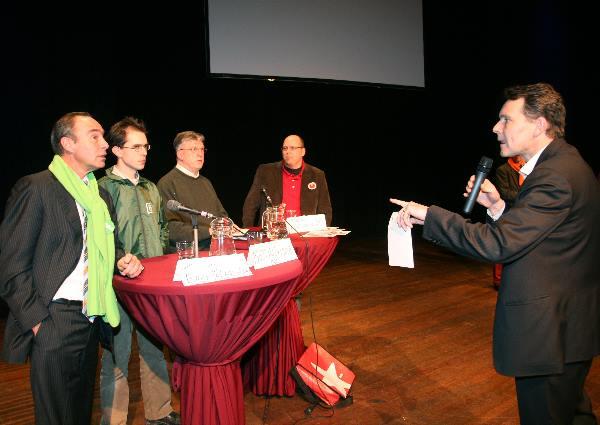 """scholierendebat Statenverkiezingen, Lindenberg, Peeters vd CDA"""