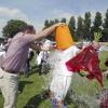 "\""Rood-wit-Beuningse Boys, vreugde bij Beuniongse Boys red sport foto: Gerard Verschooten ?   09-06-2003\"""