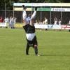 "\""Voetbal Germania RKHVV, vreugde bij Germania red sport foto: Gerard Verschooten ?   29-05-2003\"""