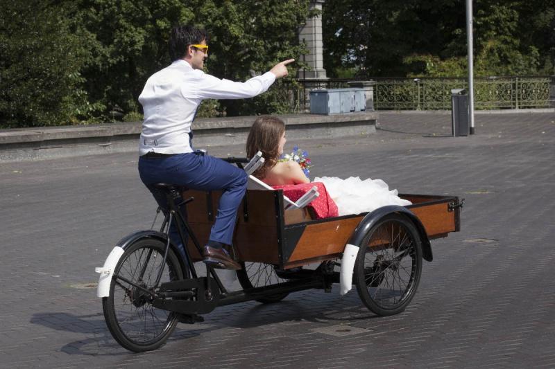 Nijmegen, 16-8-2012 . Bruiloft,  Joris en Michelle