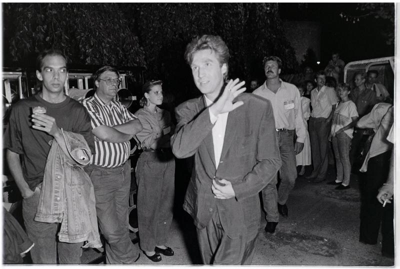 Frank Boeijen Zomerfeesten, 21 juli 1989, Kronenburgpark. Nijmegen, (11-7-2013) . dgfoto. No pictures plese..