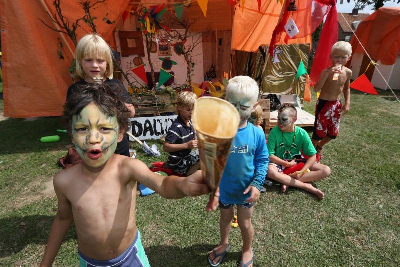 Kinderdorp in de Betuwe, Doornenburg, 6-8-2013 . dgfoto.