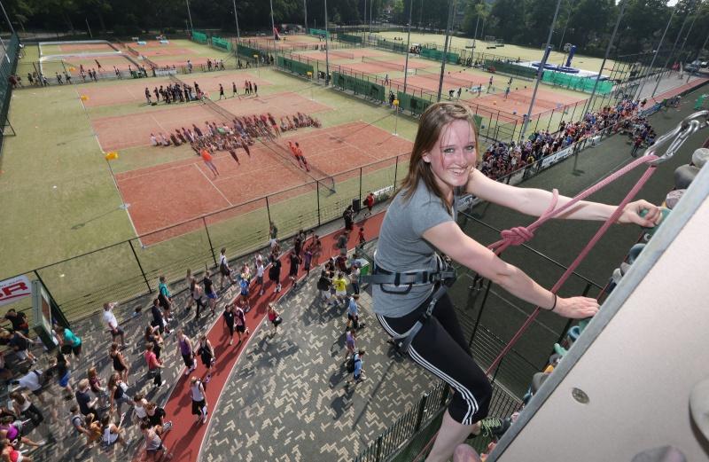 Sportdag introductie Radboud Universiteit. Nijmegen, 22-8-2013 . dgfoto.