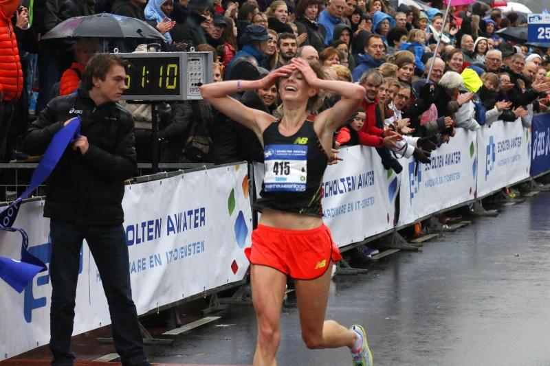 Zevenheuvelenloop finish. Nijmegen, 16-11-2014 . dgfoto.