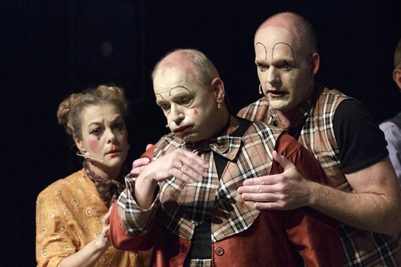 Amusementskoor Choke heeft nieuwe show die draait om het circus. Nijmegen, 23-11-2014 . dgfoto.