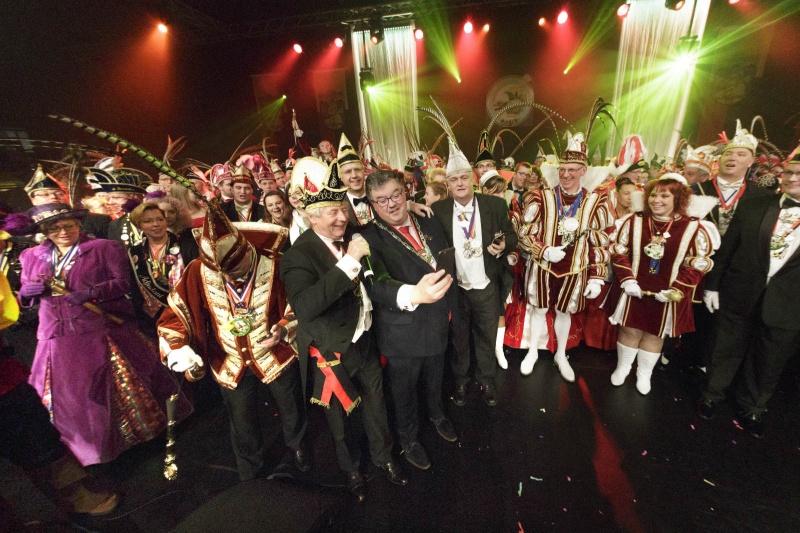 Prinsentreffe carnaval in de Jan Massinkhal. Nijmegen, 18-1-2015 . dgfoto.