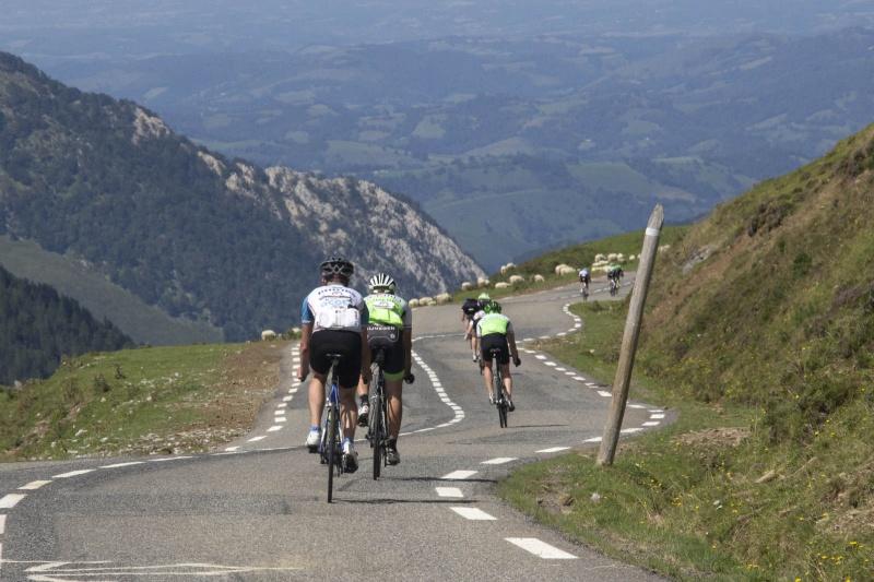 Transpyr, Fietsen over de cols van de Pyreneeen, racefiets, Frankrijk, Tourmalet. Royal, 30-8-2015 .