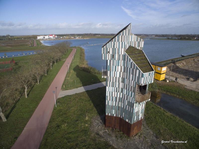 De Plassen bij Lent vanuit de luchy. Nijmegen, 16-11-2015 .