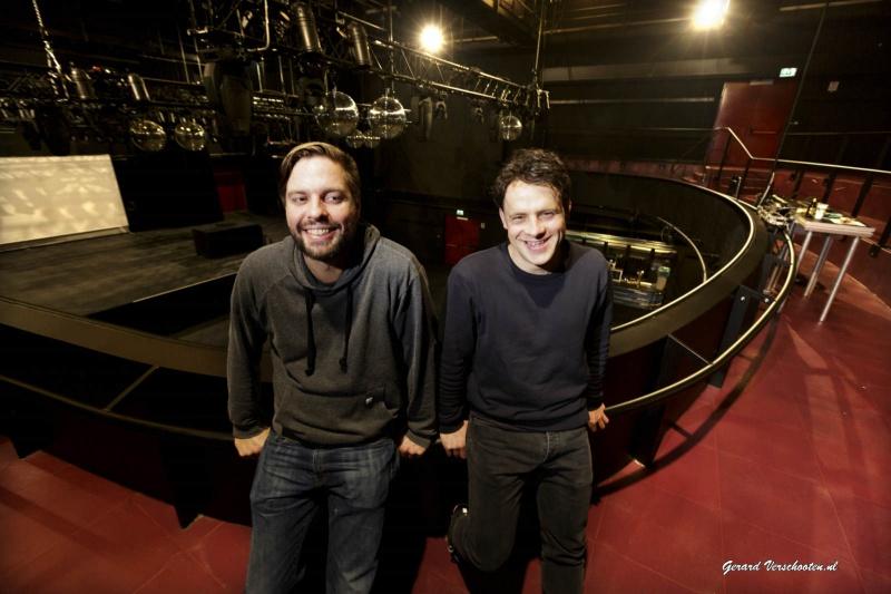 Twee programmeeurs van Doornroosje Darko Esser, Robbert Meijerink. Nijmegen, 17-12-2015 .