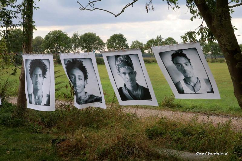 """Grensoverschrijdend kunstproject 'De Pelgrim"""", Niel, Millingen. Henk vd Zand. Homuschemuhl, , 17-9-2016 ."""