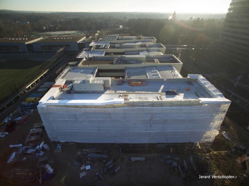 Nieuwe aanbouw gymnasion. Nijmegen, 4-12-2016 .