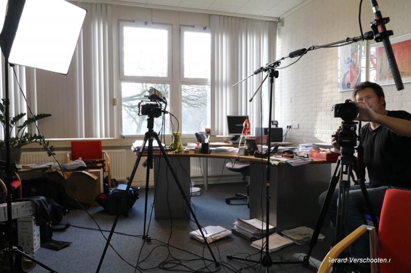 filmpje VO raad met Vincent Nijverdal. Nijmegen, 10-1-2017 .