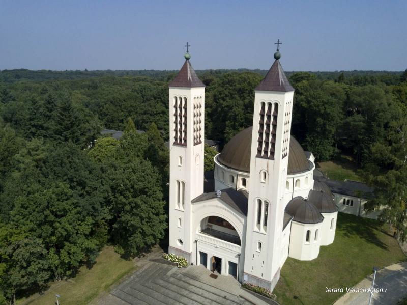 Drone, Cenakelkerk. Nijmegen, 12-9-2017 .