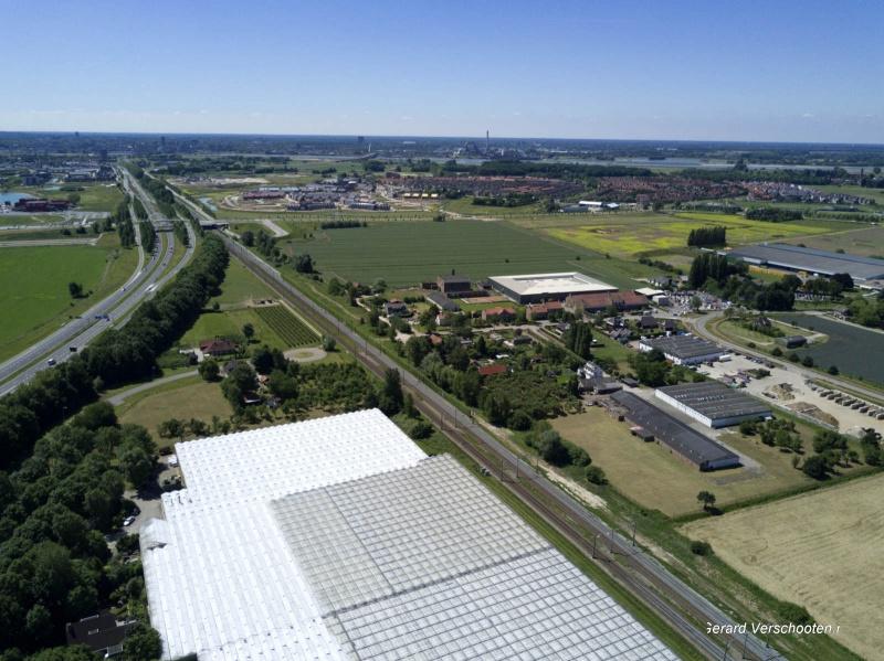 esen per drone vanaf de stationslaan. Nijmegen, 14-6-2017 .