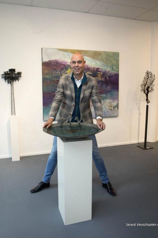 Galerie 7 zomers al 14 jaar nomadische galerie met Eelco van Iersel. Nijmegen, 29-6-2017 .