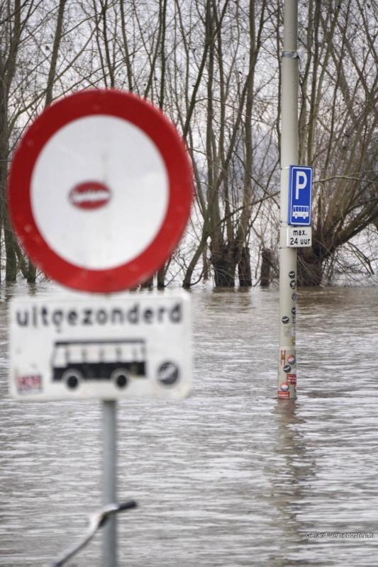 Hoogwater. Nijmegen, 6-1-2018 .