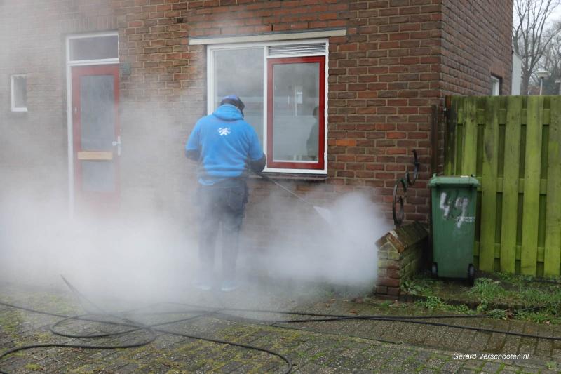 Kolpingbuurt, bezig met slopen en renoveren . Nijmegen, 11-1-2018 .