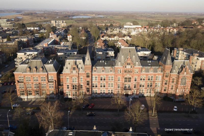 Canisiucollege per drone. Nijmegen, 17-2-2018 .