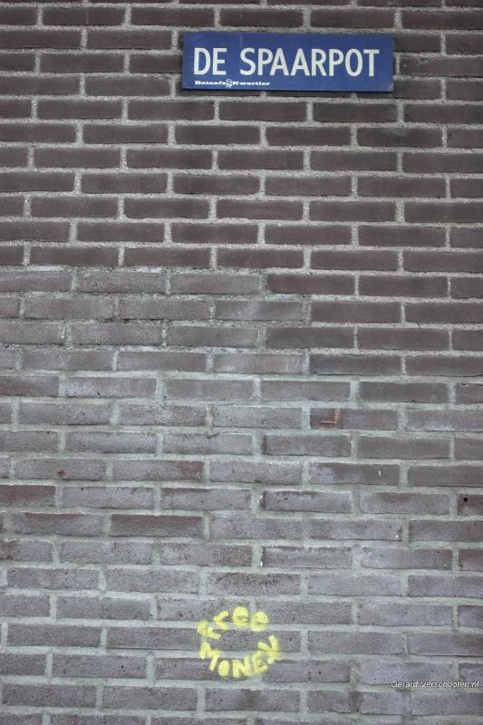 gratis geld grafity. Nijmegen, 13-5-2018 .
