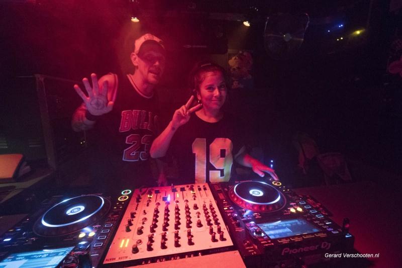 feestje in de Plak, Pure en Bomba. Nijmegen, 20-4-2018 .