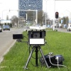 "\""Nijmegen, 10-4-2012 . Snelheidscontrole met mobiele camera op de Nieuwe Dukenburgse weg.\"""