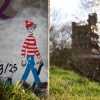 """Waar Wally is? Wally is overal,Trap voerweg/Waalbrug. Nijmegen, 31-1-2013 . dgfoto.\"""