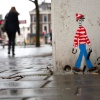 """Waar Wally is? Wally is overal,Stationsweg. Nijmegen, 31-1-2013 . dgfoto.\"""