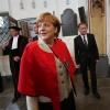 Angela Merkel, bondskanselier krijgt eredoctoraat van de Radboud universiteit. 90 jarig bestaan, lustrum. Nijmegen, 23-5-2013 . dgfoto.