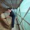 dakdekker van sonsbeek uit druten legt nieuw koperen dak als koperslager bij Bergmanianum. Nijmegen, 17-6-2013 . dgfoto.