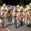 De wielrenners van vereniging de Wedrenners komen hier tussen half acht en acht aan voor hun slotklim omhoog. Ze gooien er dan nog even een sprintje uit om als eerste boven te zijn. Nijmegen, 9-7-2013 . dgfoto.
