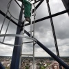 Nieuwbouw Doornroosje. vanuit de bouwkraan,  kraan uitzicht over de stad. Nijmegen, 30-6-2013 . dgfoto.