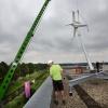 Wijchen Bijsterhuizen 3009 Plaatsing windmolen DKC , 15-8-2013 . dgfoto.