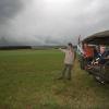 Groesbeek, Bert Eikelenboom die met historische oorlogsjeep rondritten verzorgd over voormalige slagvelden WO II, 12-9-2013 . dgfoto.