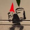 Kaboutertekening op kast, Graffiti. Nijmegen, 5-10-2013 . dgfoto.