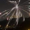 Vuurwerk vanaf de roze flat Graafseweg. Nijmegen, 1-1-2014 . dgfoto.