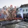 Nieuwjaarsduik aan de Waalkade. Nijmegen, 1-1-2014 . dgfoto.