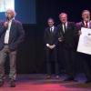 Nieuwjaarsreceptie gemeente met Amira en Nijmegenaar van het jaar Rob Jaspers. Nijmegen, 6-1-2014 . dgfoto.
