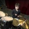 De 11-jarige Jimi Hendriks is tijdens een landelijk concours in de prijzen gevallenals drummer, Bemmel, 3-2-2014 . dgfoto.