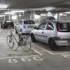 Parkeergarage onder plein 44 met fiets. Nijmegen, 16-1-2014 . dgfoto.