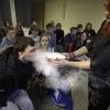 Workshops: geuren  met  leerlingen van nsg en werkenrode , Groesbeek, 20-2-2014 . dgfoto.