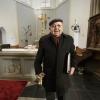 Wim van Daal (84) als 75 jaar bij koor waarvan 34 als dirigent, St Johannes de DoperkerkGasselt. 23-2-2014