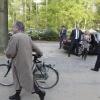 Jet Bussemaker is special guest bij het diner van Senaat van hoogleraren Rector Kortmann komt te fiets . Aula RUN. Nijmegen, 22-4-2014 . dgfoto.
