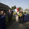 Lintjesregen door burgemeester Bruls bij o.a echtpaar Arts Hermsen. Nijmegen, 25-4-2014 . dgfoto. KO