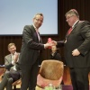 Afscheidsreceptie Jan van de Meer en Henk Beertens als wethouder. Stadsschouwburg... en Kunst en Jeene. Nijmegen, 21-5-2014 . dgfoto.